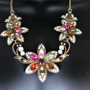 Betsey Johnson Floral Statement Necklace